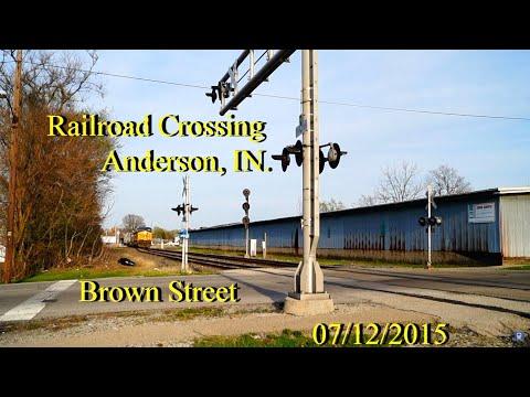 Railroad Crossing: Brown Street in Anderson, IN., CSX Main Track 2