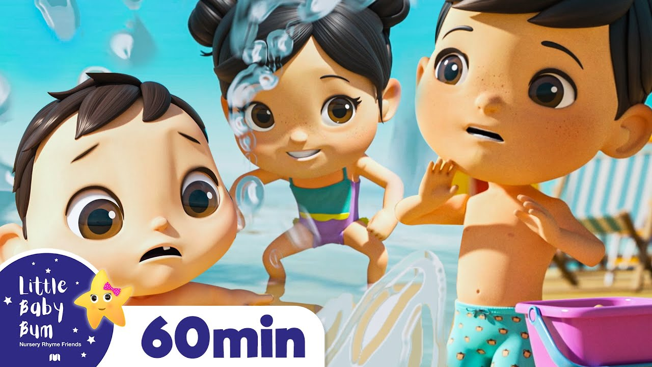 Fun Day at the Beach - Baby Max Holiday   +More Nursery Rhymes   ABCs and 123s   Little Baby Bum