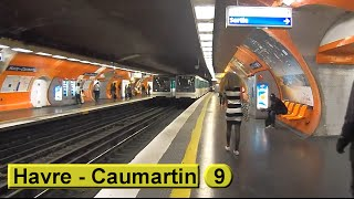 Métro de Paris: Havre - Caumartin M9 (RATP MF67)