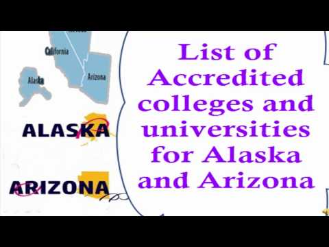 List of Accredited Online colleges and universities for Alaska and Arizona