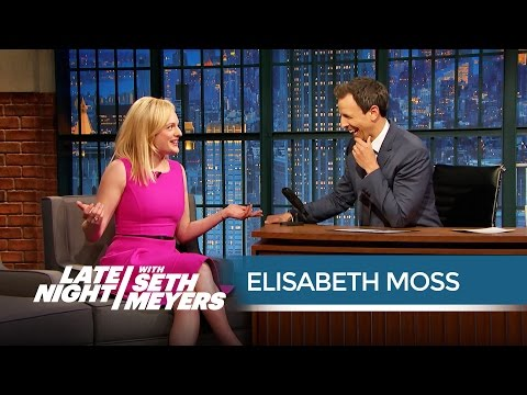 Elisabeth Moss Talks Shooting the Mad Men Finale  Late Night with Seth Meyers