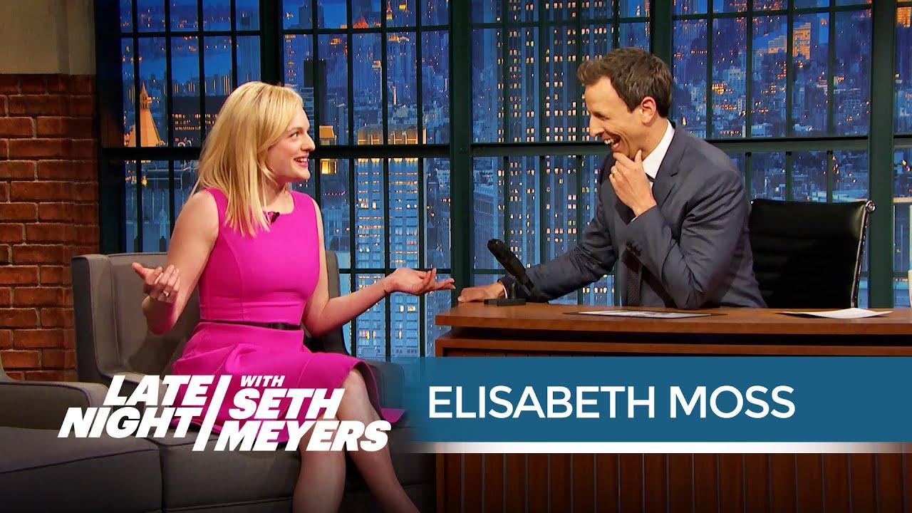 Elisabeth Moss Talks Shooting the Mad Men Finale - Late ...