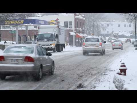 Wellesley, Massachusetts Winter Snow Canon 7D with Canon 85mm f/1.8 USM Lens part 1 on MONOPOD
