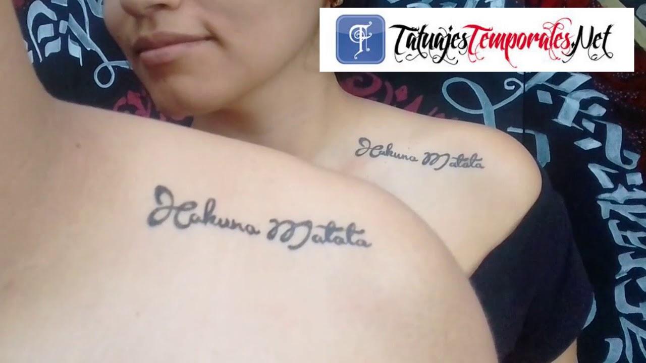 Tatuajes Temporales Badabun hakuna matata en tatuaje temporal - youtube