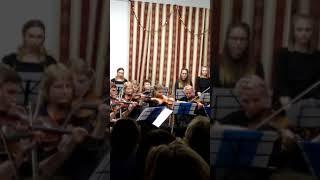Доча в оркестре первый год обучения в муз.училище