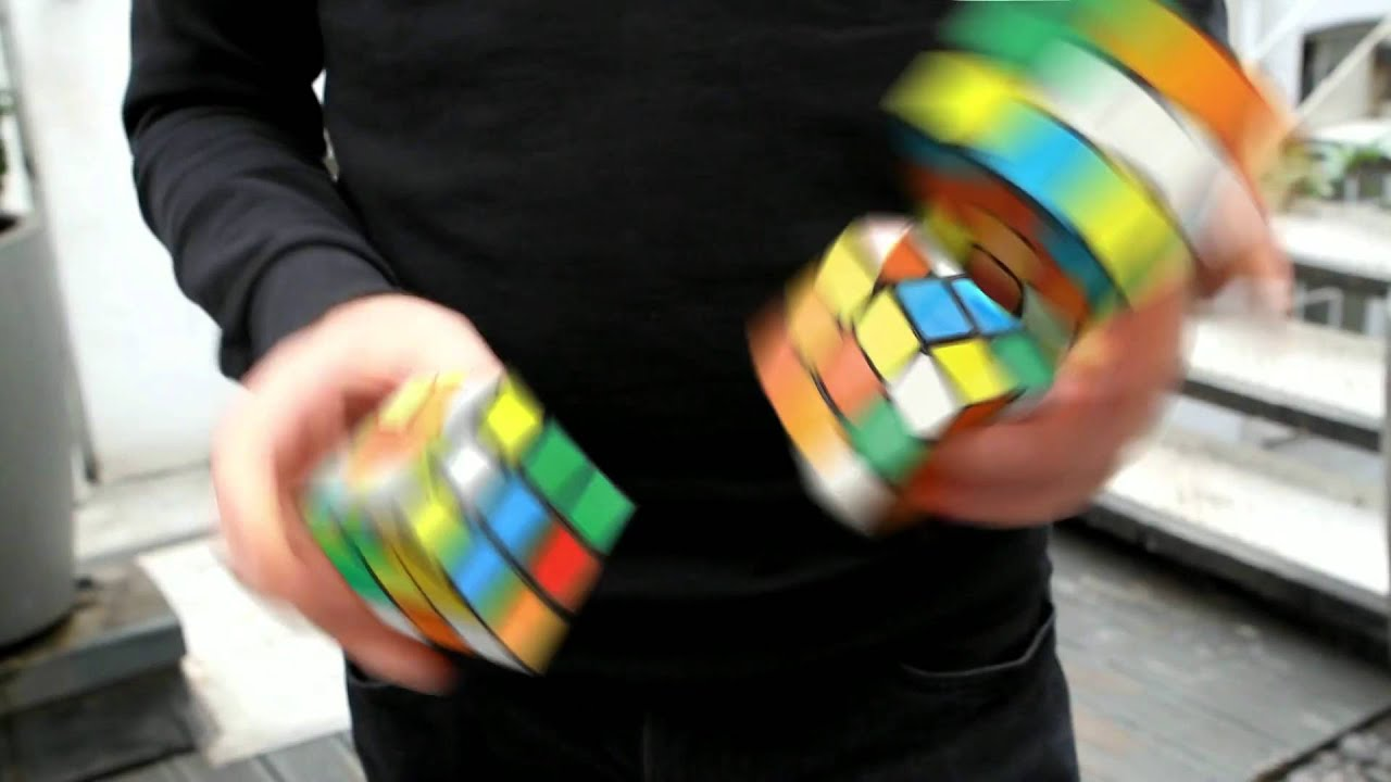 Juggling with Three Rubik's  Cube