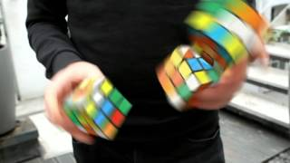 'Solving' 3 Rubik's Cubes in Under 20 Seconds Whilst Juggling – How it was actually done thumbnail