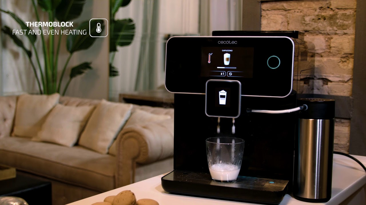 Power Matic-ccino 8000 Touch Serie Nera - YouTube