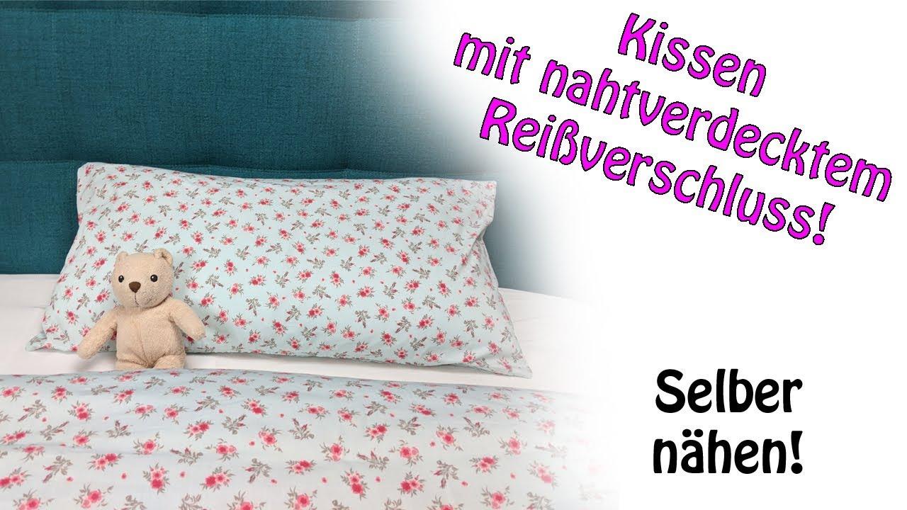 Reißverschluss In Bettwäsche Einnähen Bettwäsche Nähen Reißverschluss