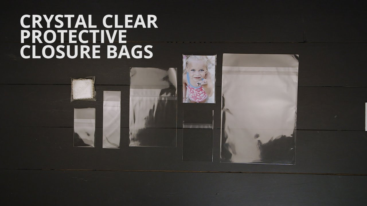 Crystal Clear Protective Closure Bags Youtube