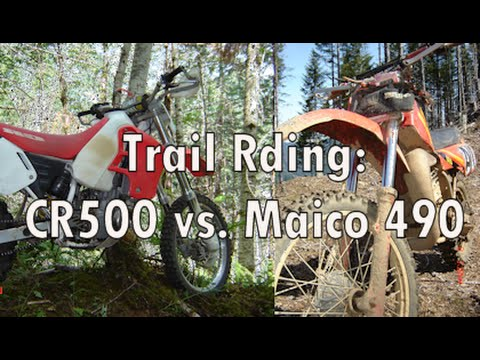 Trail Riding: CR500 vs. Maico 490