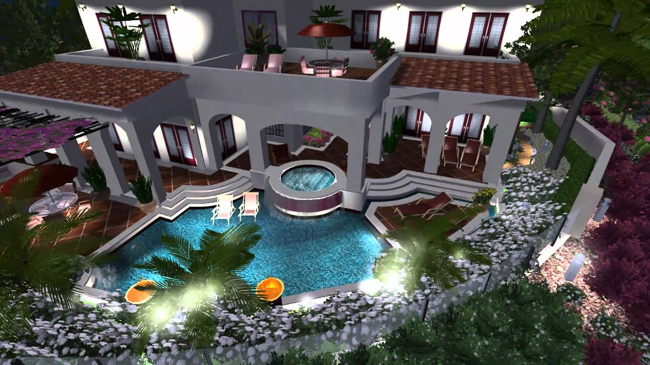 3d landscape and pool design virtual presentation studio for Pool design 3d
