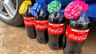 Crushing Crunchy & Soft Things by Car! - EXPERIMENT: CAR vs Coca-Cola with Balloons