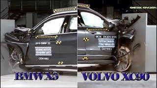 BMW X5 vs Volvo XC90 2019 CAR CRASH TEST