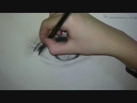 Comment dessiner des yeux r alistes tutoriel youtube - Comment dessiner un but de foot ...