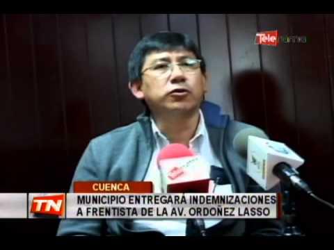 Municipio entregará indemnizaciones a frentista de la av. Ordoñez Lasso