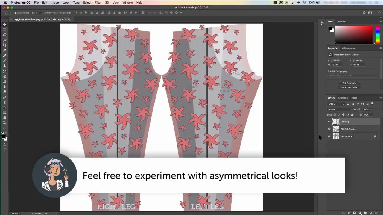 designing for redbubble leggings youtube
