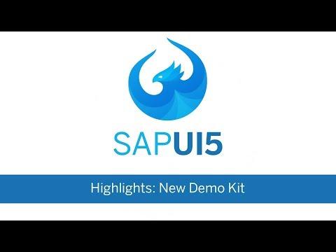 SAPUI5 Highlights - New Demo Kit - YouTube