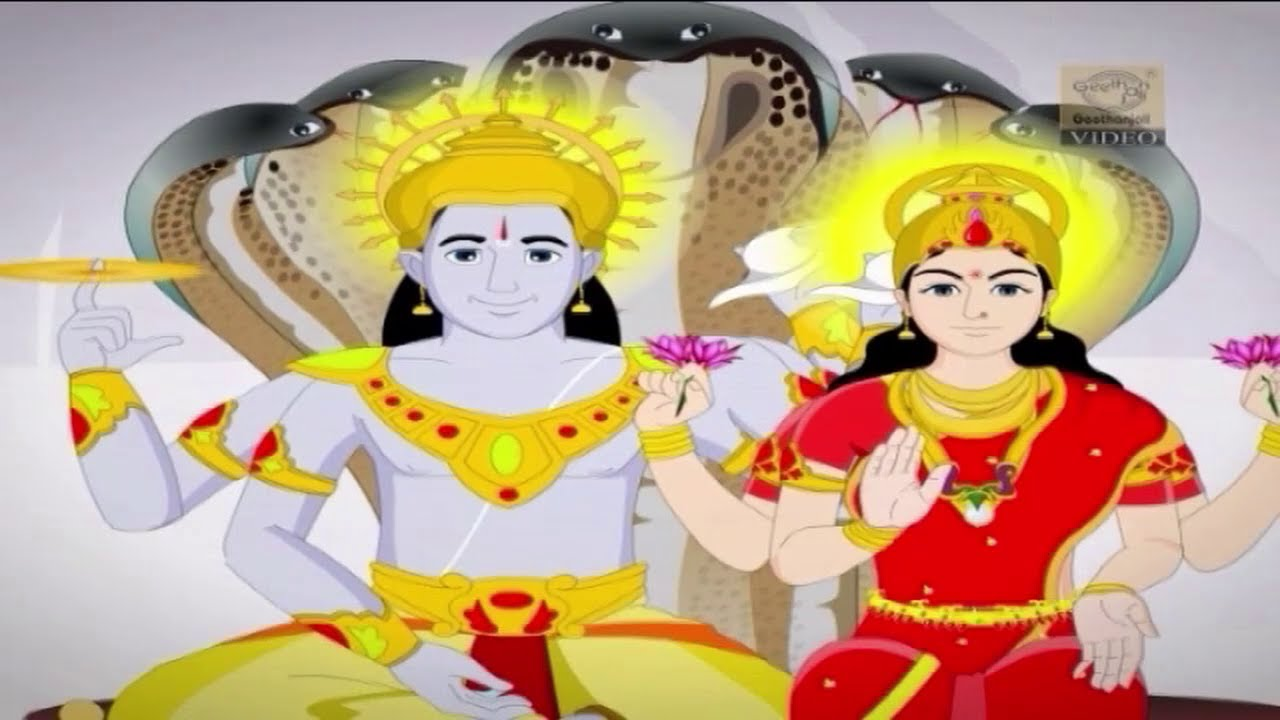 Lord Vishnu The Savior Of The Heavens Full Story Animated Stories For Children Youtube