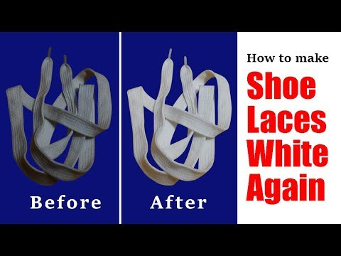 How to make shoelaces white again | Get rid of stains from shoelaces