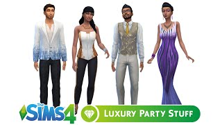 Sims 4 Luxury Party Stuff Pack: Clothing and Objects Overview