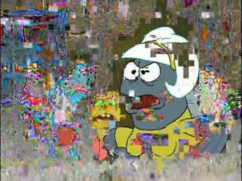 Spongebob Glitched - Band Geeks