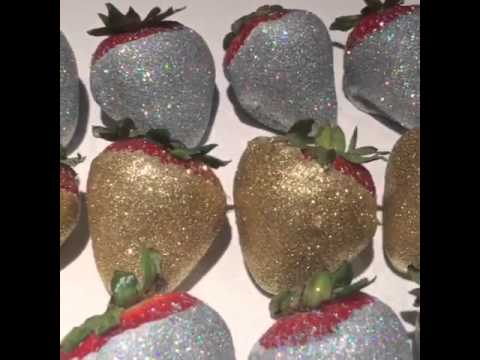 silver and gold strawberry gems by sweetserenitydesserts