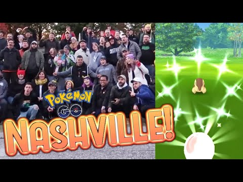 NASHVILLE CYNDAQUIL COMMUNITY DAY MEETUP! Catching Shiny Cyndaquil in Pokemon Go! thumbnail