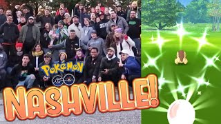NASHVILLE CYNDAQUIL COMMUNITY DAY MEETUP! Catching Shiny Cyndaquil in Pokemon Go!
