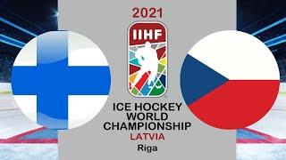 Хоккей Финляндия Чехия Чемпионат мира по хоккею 2021 в Риге период 1