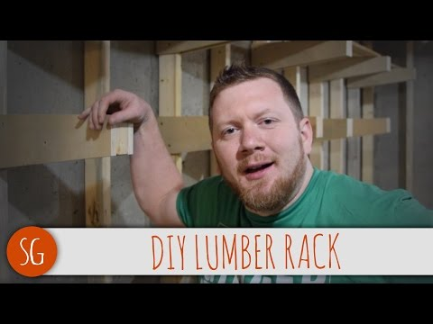 How to make a simple expandable lumber rack