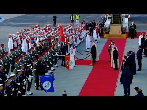 مراسم استقبال خادم الحرمين الشريفين الملك سلمان بن عبد العزيز