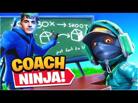 NINJA COACHES ME IN FORTNITE!