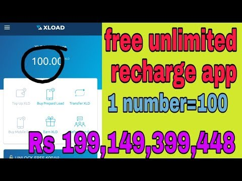 Get free mobile recharge XLoad app unlimited free recharge