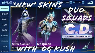 New Ice Queen and Silver Assassin Skins!! 21 Frag Duo Squads with OG · Kush (Creative Destruction)