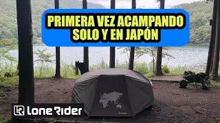 Primera vez acampando solo (motocamping) + Casa de campaña para motos Lone Rider   Riken's Life