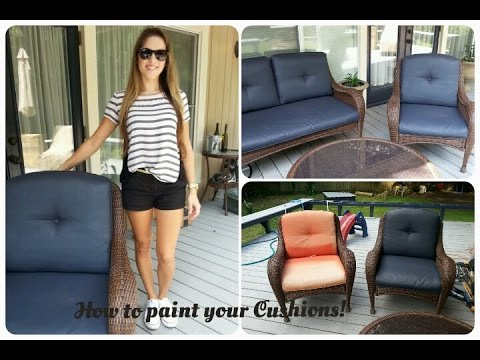 How To Paint Outdoor Cushions Youtube