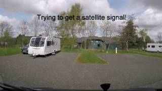 Arriving at River Breamish Caravan and Motorhome Club Site - Easter 2017 Trip - Day 8
