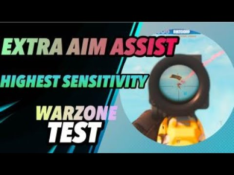 EXTRA AIM ASSIST Using High Sensitivity In WARZONE (Modern Warfare) CRONUSZEN