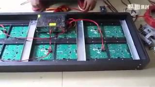 How to install Outdoor p8,p10,p16,p20 LED display modules