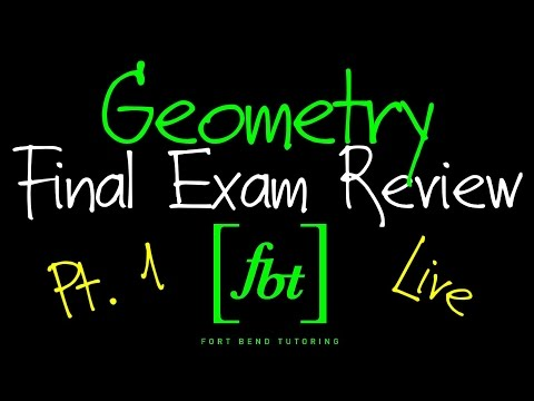 Geometry EOC Final Exam Review Part 1 Fbt Geometry 2nd Semester Exam Review
