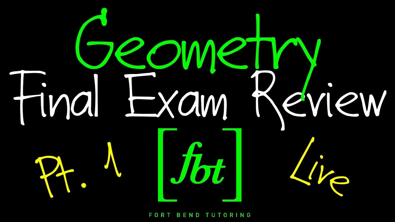 🔵 Geometry EOC Final Exam Review: Part 1 [fbt] (Geometry 2nd Semester Exam  Review)