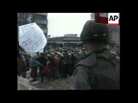 Bosnia - Protest On International Women's Day
