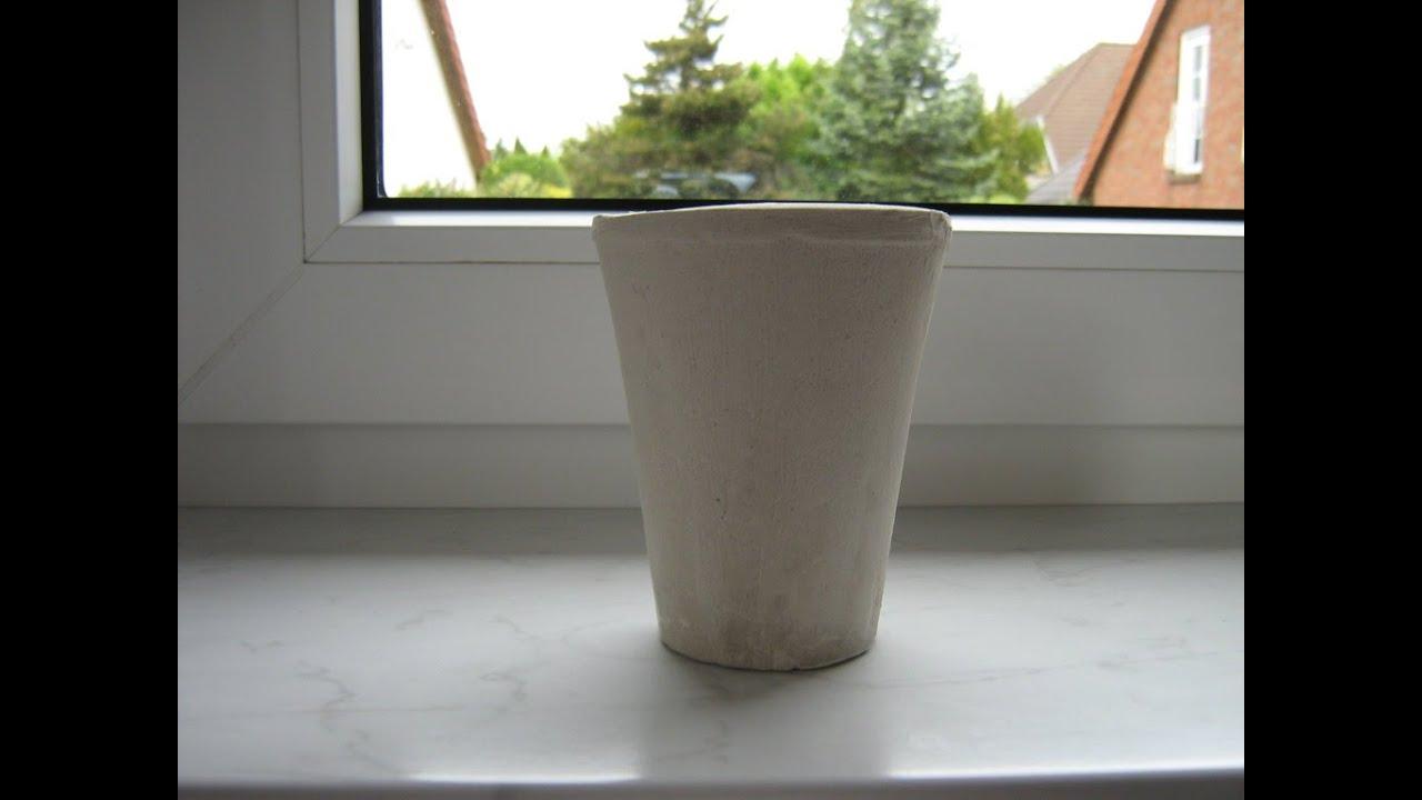 Blumenkübel Aus Beton Selber Machen Diy Beton Kerzenständer Und