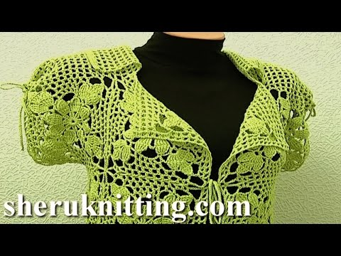 Square Motif Ladys Jacket Tutorial 11 Part 1 Of 3 Crochet Square