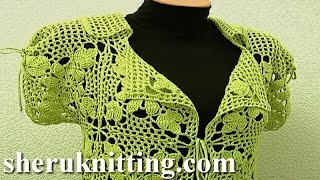 Square Motif Lady's Jacket Tutorial 11 Part 1 Of 3 Crochet Square Motif Free Pattern