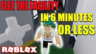 ROBLOX FLEE THE FACILITY ESCAPE IN 6 MINUTES OR LESS!
