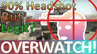90% Headshot Percentage and it may be LEGIT? CS:GO OVERWATCH!