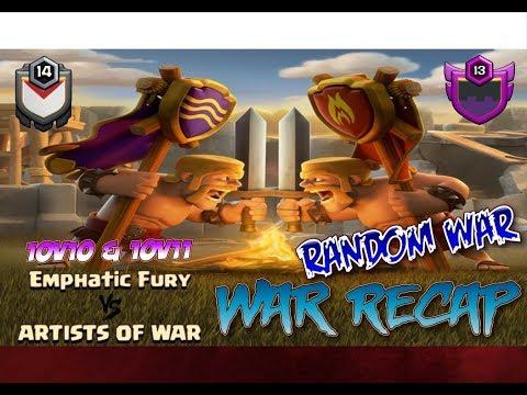 Emphatic Fury vs ARTISTS OF WAR Random War 10v11 10v10 Recap