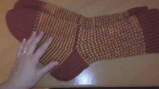 Вязание. Мужские носки.